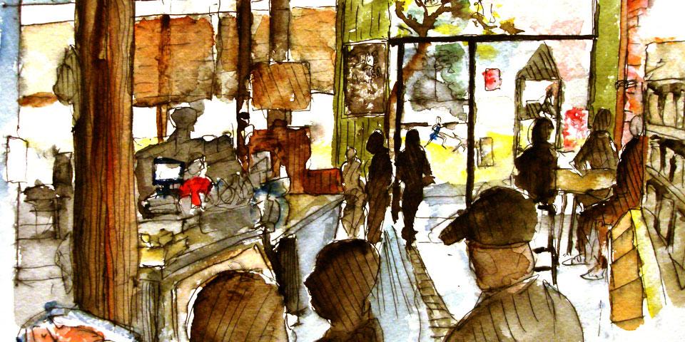 Art District coffee shop LA